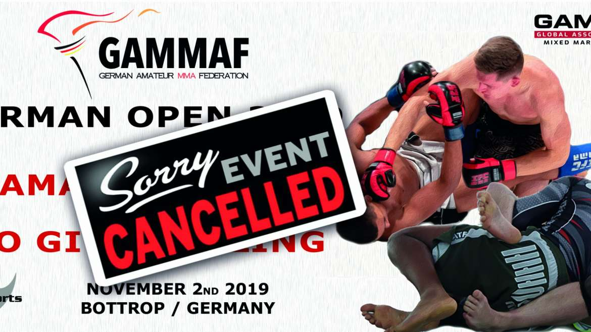 German Open Nov. 2nd cancelled